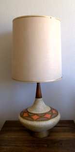 Walnut & Ceramic MCM lamp